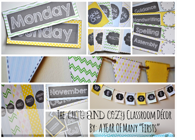the cute and cozy classroom – editable decor