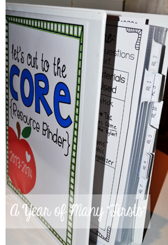 Common Core Binder