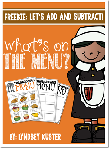 What's On the Thanksgiving Menu? {Freebie!}