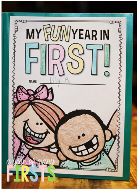 Kindergarten Book Cover Ideas ~ End of year memory book a many firsts