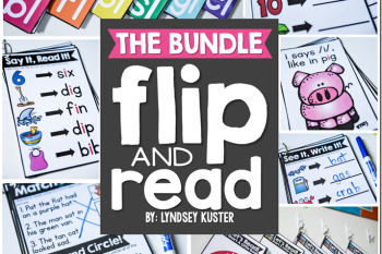 phonics for the year: flip and read books (free resource!)