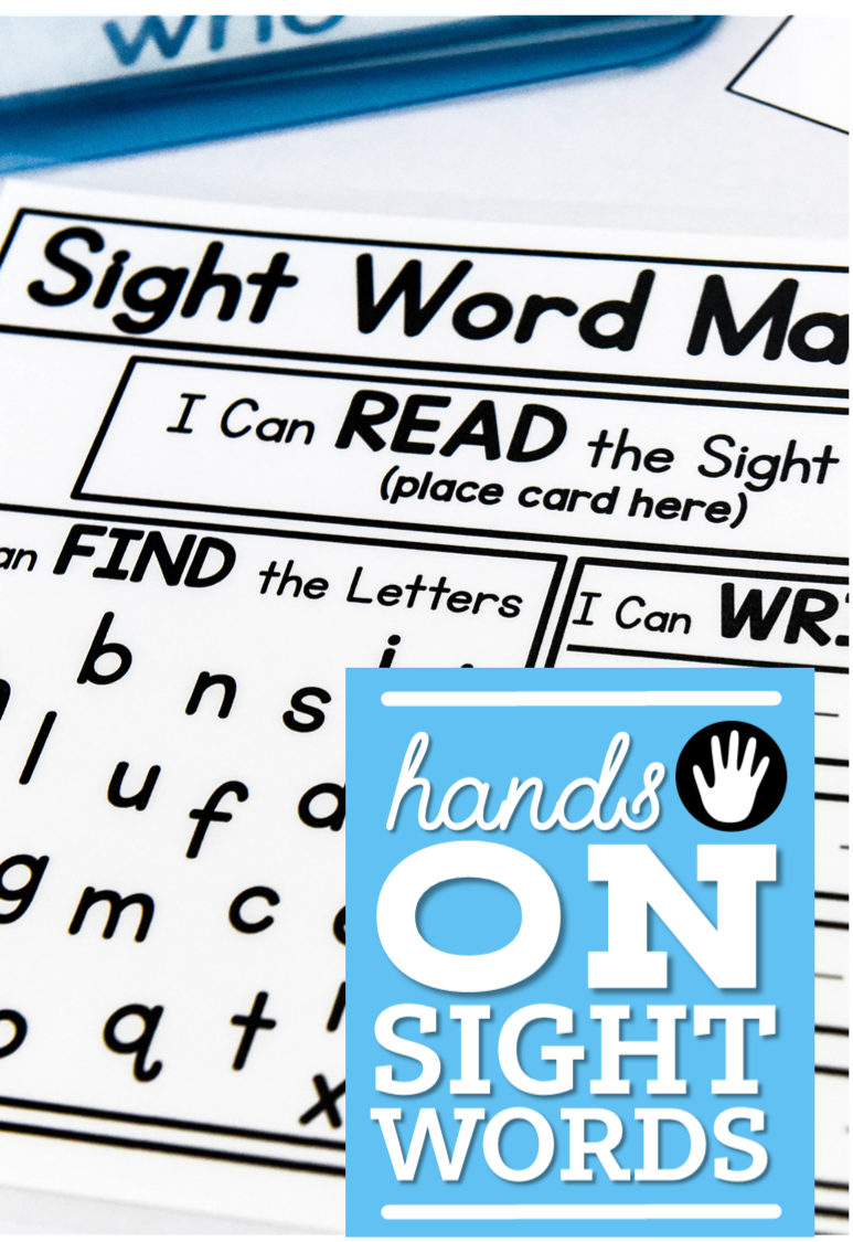 hands on sight words 1